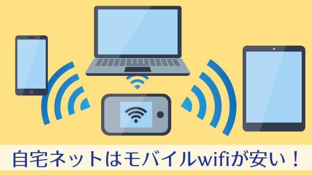 自宅ネットはモバイルwifiが一番安い