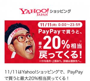 11月11日いい買い物の日PayPayキャンペーン