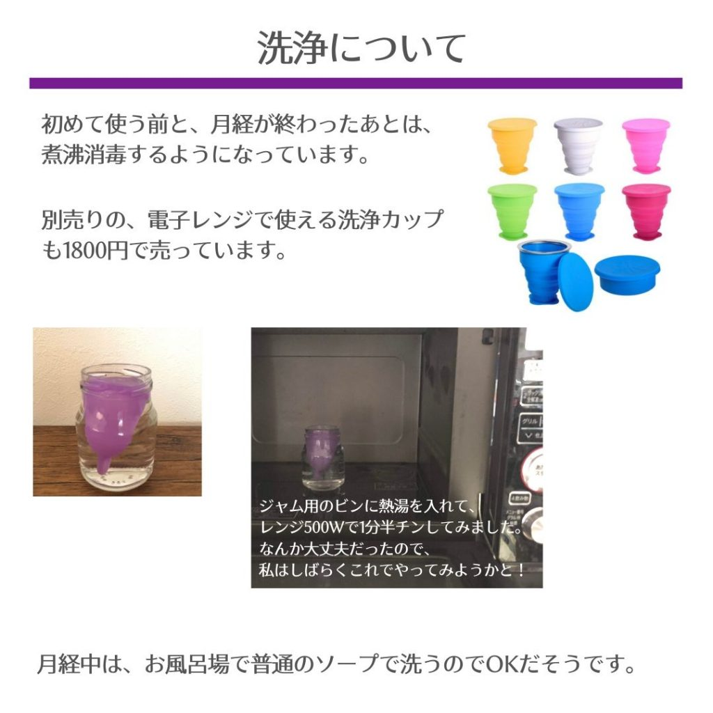 月経カップの洗浄・レンジでの消毒方法