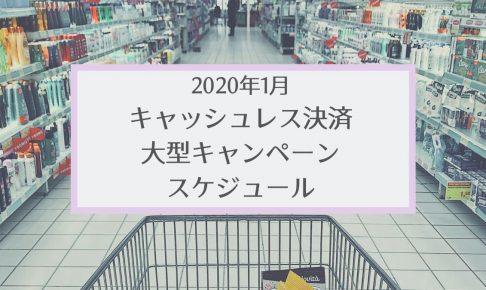 【2020年1月】ペイ系キャンペーンまとめ・スケジュール【カレンダー付き】