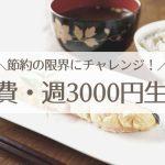 親子3人の食費は週3000円まで下げれた!【節約生活の限界にチャレンジ】