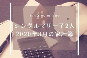 【シングルマザー子2人の家計簿】2020年3月の生活費を公開!
