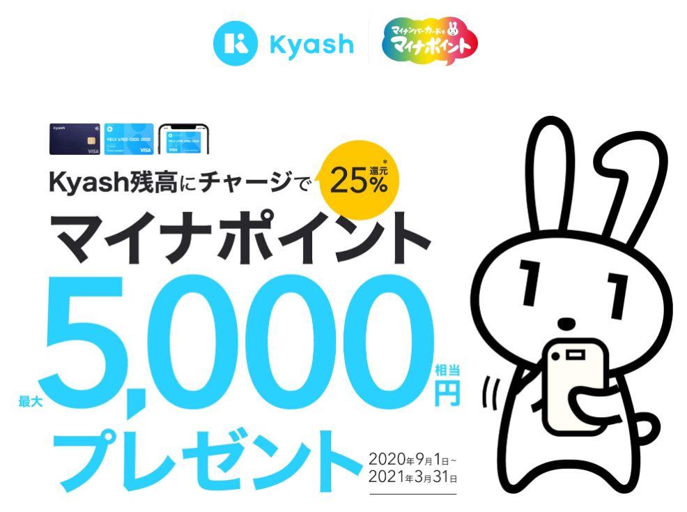 Kyashマイナポイントキャンペーン