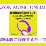【6/19~7/2】Amazon Music Unlimitedの30日無料体験に登録するだけで500Pキャンペーン!