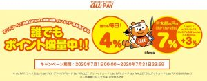 「auPAY」Ponta提携店舗で4%還元キャンペーン