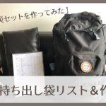防災セットを作ってみた!【ポイントは非常持ち出し袋と備蓄品を分けること】