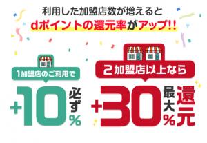 「d払い」お買い物ラリーで10%か30%還元!