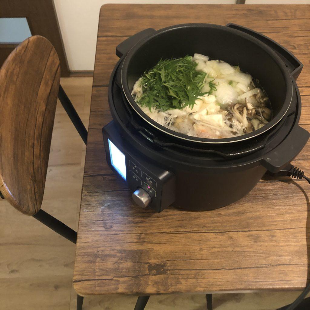 アイリスオーヤマ電気圧力鍋の鍋モード