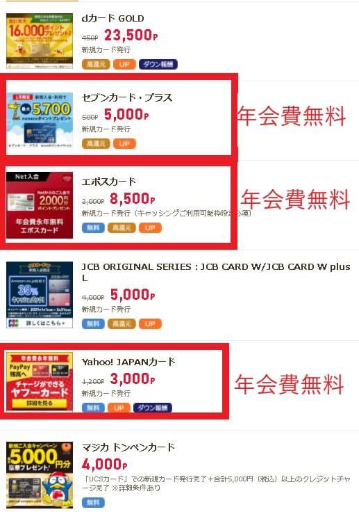 ライフメディアのクレジットカード広告案件