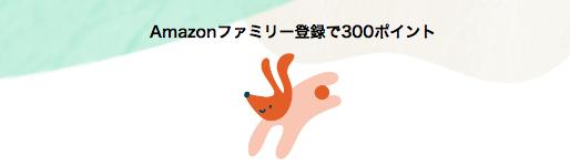【12/31まで】Amazonファミリー登録で300ポイント